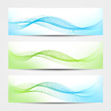 Banner - Water Waves royalty free illustration