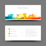 Banner watercolor blue yellow Royalty Free Stock Image