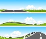 BANNER - Way through nature Stock Photo