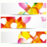 Banner for web design, decorated with hearts. Royalty Free Stock Photo