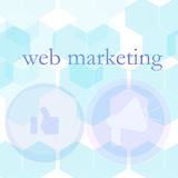 Banner for web design, seo, social media and pay per click internet advertising. marketing Royalty Free Stock Photos