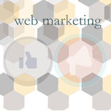 Banner for web design, seo, social media and pay per click internet advertising. marketing Stock Photo