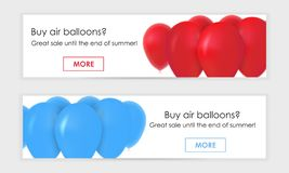 Banner for web, gel balls royalty free illustration