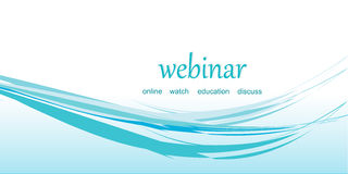 Banner for the webinar, vector Stock Images