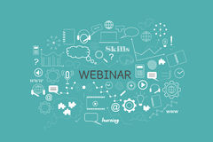 Banner webinar, vector Royalty Free Stock Photo