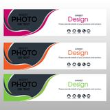 Banner Template-Vol2. Banner for website design and banner advertising of all kinds. For Business, Design, Publishing and Advertising Stock Photography