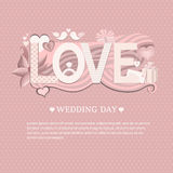 Banner wedding day Stock Photo