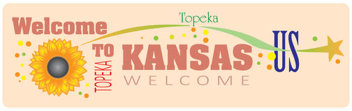 Banner Welcome to Kansas Royalty Free Stock Images