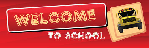 Banner Welcome to the school Stock Photos