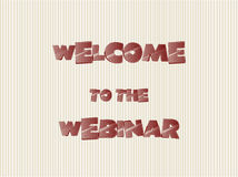 Banner welcome to the webinar, vector Royalty Free Stock Photos