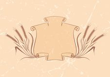 Banner with wheat beige Stock Photos