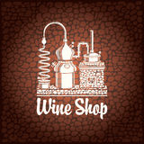 Banner for wine shop Stock Image