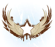 Banner with wings Stock Photo