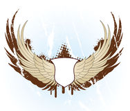 Banner with wings Royalty Free Stock Image
