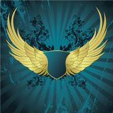 Banner with wings Royalty Free Stock Images