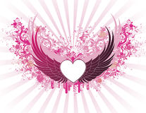 Banner with wings Stock Photography