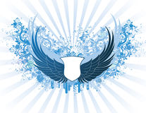 Banner with wings Royalty Free Stock Photography