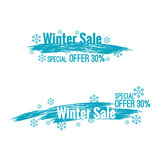 Banner winter sale Royalty Free Stock Photos