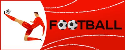 Free Banner With Soccer Player Royalty Free Stock Photo - 121932105