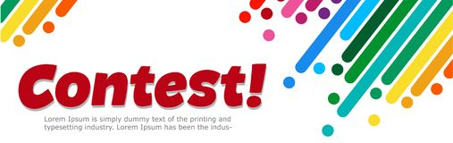 Free Banner With Text Contest. Bright Design. Vector Illustration Royalty Free Stock Images - 160436569