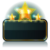 Banner With Three Stars Stock Photos