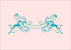 Free Banner With Two Herubs. Royalty Free Stock Image - 5945616