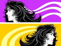 Banner of woman face Stock Photos