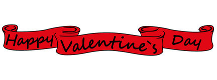 Banner with the words Happy Valentine`s Day Stock Photo