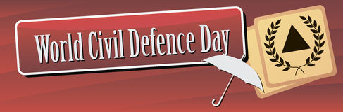 Banner World Civil Defence Day Stock Images