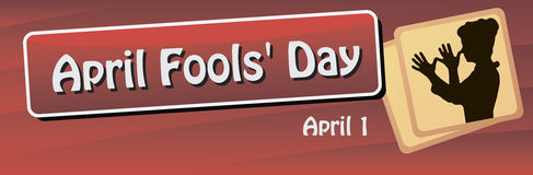 Banner for the World Day of the fool. Celebrated on 1 April. Vector illustration stock illustration
