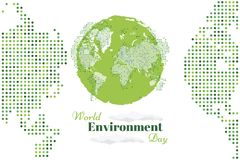 Banner world environment day with world map Stock Photos