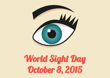 Banner for World Sight Day - 8th October 2015. Poster for World Sight Day - 8th October 2015 Stock Photography