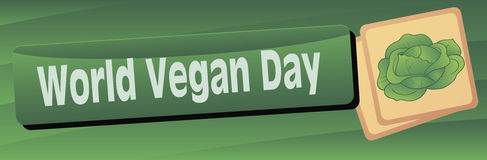 Banner World Vegetarian Day Royalty Free Stock Photo