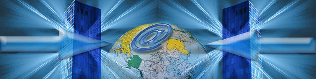 Banner: World wide E-commerce Stock Photos