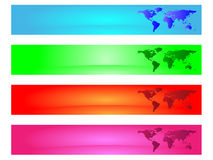 Banner with worldmap Royalty Free Stock Photo