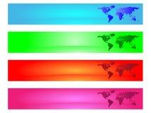 banner worldmap Zdjęcie Royalty Free