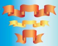 banner wstążkę dekoracyjny Zdjęcia Stock