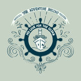 Banner Yachting club Stock Image