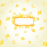Banner yellow background glossy shape Royalty Free Stock Photo