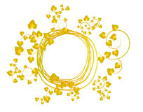 Banner with yellow leaves Stock Image
