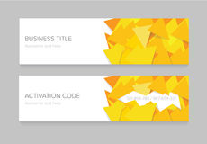 Banner with yellow stripes Royalty Free Stock Photo