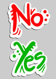 Banner yes no. Creative design of banner yes and no Stock Image