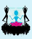 Banner yoga Stock Image