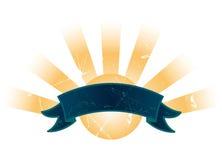 banner znak słońca Zdjęcia Stock