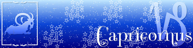 Banner zodiac Capricornus stock photo