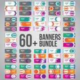 Bundle of 60+ Vector Abstract Design Banner Web Template - EPS 10 royalty free stock photos