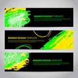 Bannerdekking met abstract hand getrokken patroon royalty-vrije illustratie
