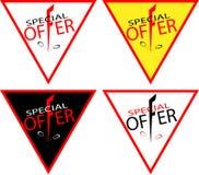 Bannerkortingen met een daling in het embleem-pictogram van prijzenkortingen Royalty-vrije Stock Fotografie
