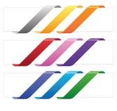 Bannerlinten in diverse kleuren Stock Fotografie