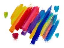 Bannermalplaatjes met olie en waterverf het schilderen Met de hand gemaakte pai Stock Afbeelding